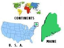 Map of World/US/Maine